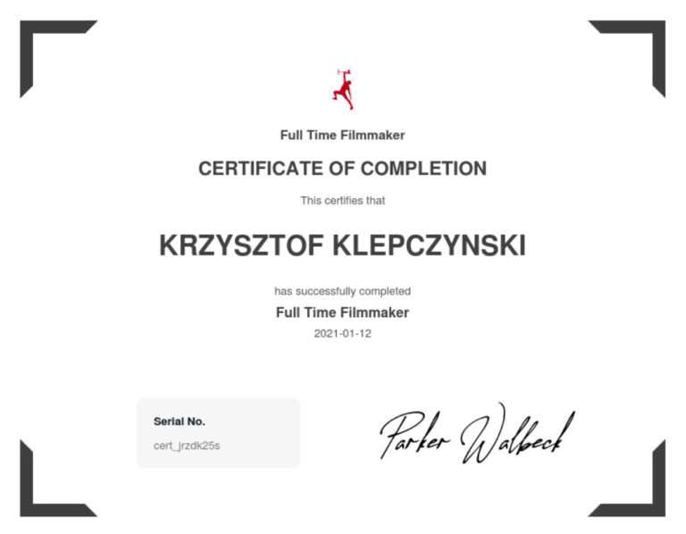 Krzysztof marketing certyfikat